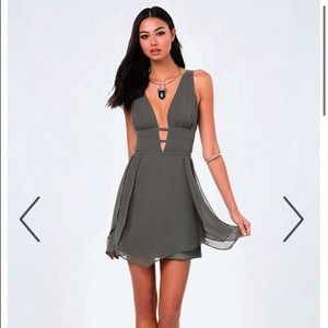 Bebe olive green dress